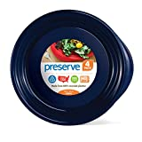Preserve Everyday 9.5 Inch Plates, Set of 4, Midnight Blue