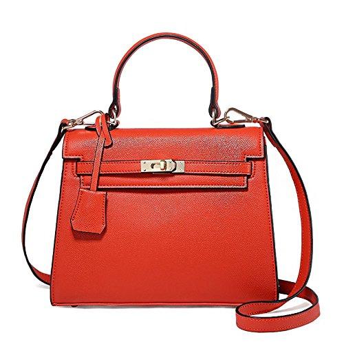 LEODIKA Bolso de Kylie, bolso, bolso, bolso femenino, elegante Edición Vino Tinto Yan Hong Big Edition