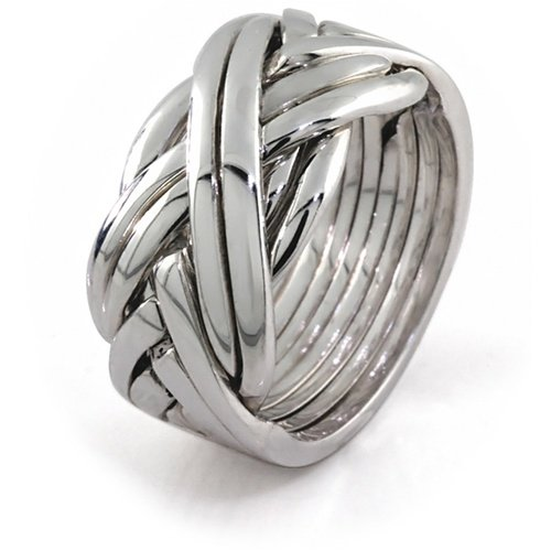 Sterling Silver Puzzle Ring 84SM - Size: 10