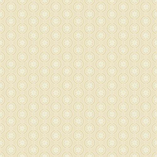 Wallpaper Cottage Prints - York Wallcoverings ER8127 Waverly Cottage Chantal Wallpaper, Beige/White/Ecru