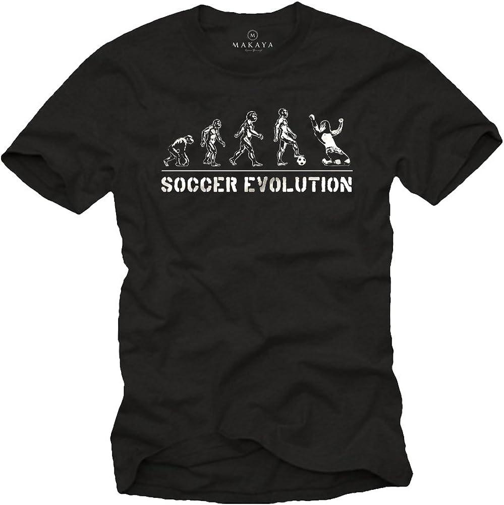 MAKAYA Camisetas de Futbol Soccer Evolution: Amazon.es: Ropa y ...