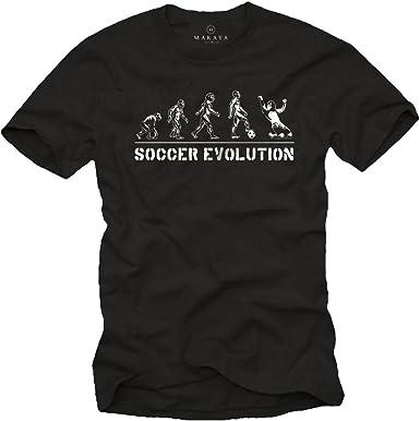 MAKAYA Camisetas de Futbol Soccer Evolution: Amazon.es: Ropa y accesorios