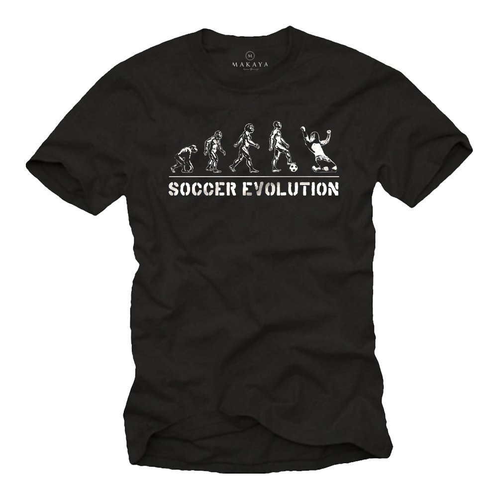 2a9440de675 Amazon.com  MAKAYA Men´s Retro Football Evolution Shirt  Clothing