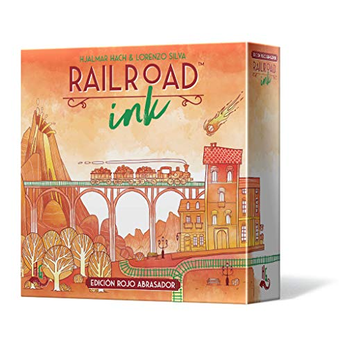 (Asmodee Railroad Ink: Abrasive Red Edition - Spanish Colour (HGRRI02ES)