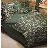 Blue Camouflage Comforter Set - Full