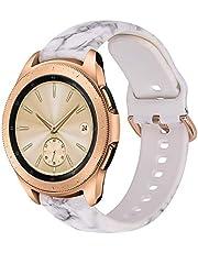 VIGOSS Compatible Galaxy Watch 42mm Bands Women 20mm Width Silicone Strap Wristband for Samsung Galaxy Watch 42mm SM-R810 Smartwatch
