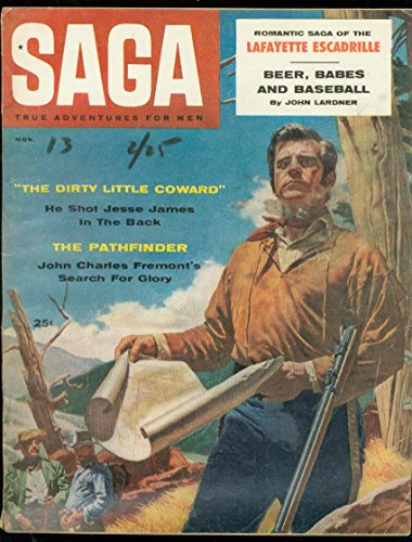SAGA MAGAZINE NOV 1957-JESSE JAMES-BASEBALL-BABES-BEER VG