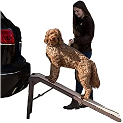 Pet Gear Free Standing Ramp for Cats and Dogs. Great for SUV's or use Next to your Bed. 4 Models to Choose from, Supports 200-300 lbs, Lightweight Easy-Fold Design