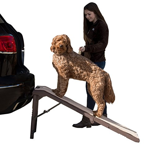 Dog Travel Ramp - Pet Gear Free Standing Ramp for Cats and Dogs. Great for SUV's or use Next to your Bed. 4 Models to Choose from, Supports 200-300 lbs, Lightweight Easy-Fold Design