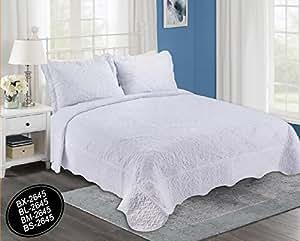 Forentex colcha bout cosida y bordada bl 2645 cama for Colcha blanca cama 150