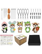Shiba Dog Needle Felting Kit Gift Box Pack - 1 : 1 Size Reference Instruction for Beginners (5 Pack)