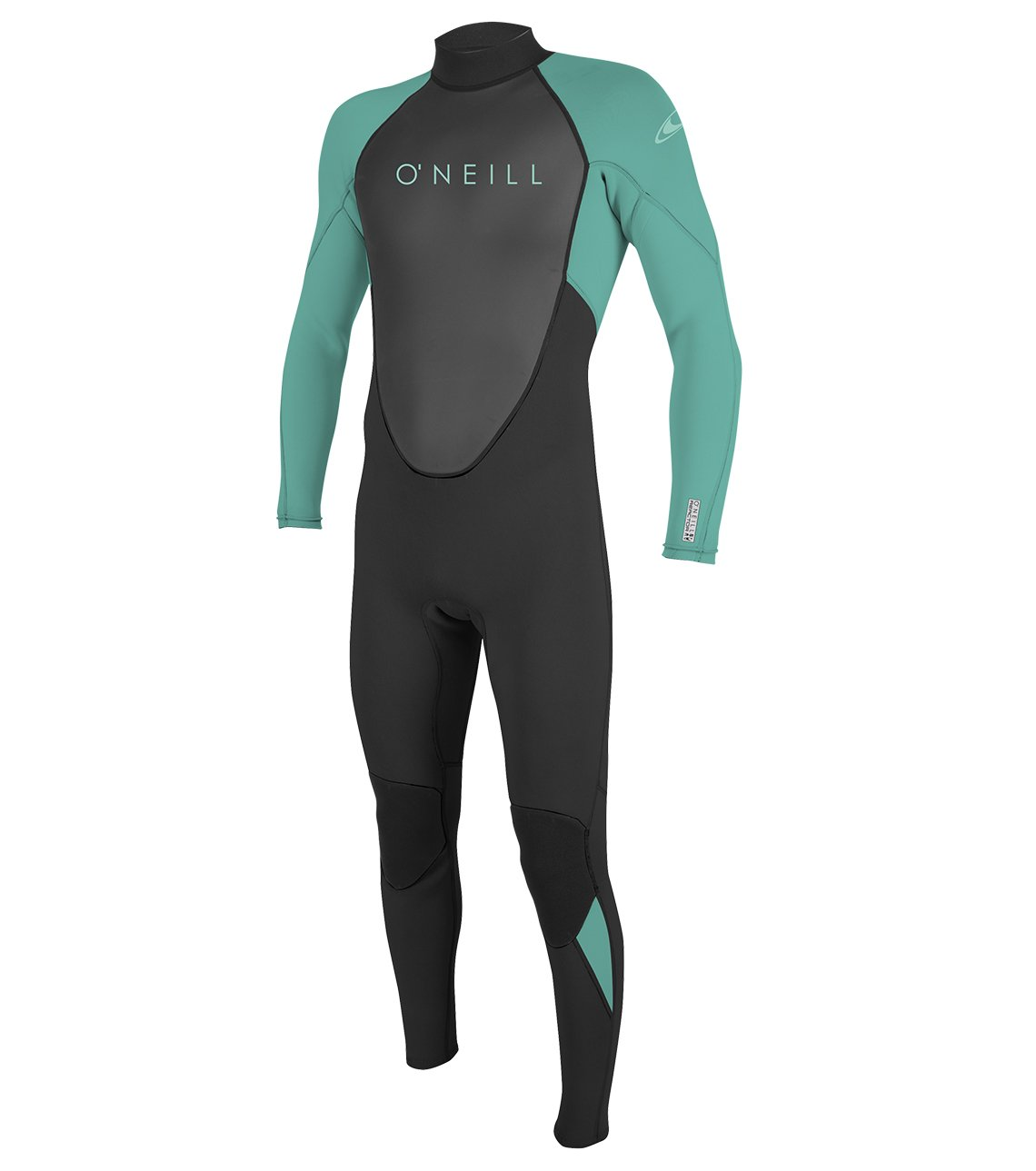 O'Neill Youth Reactor-2 3/2mm Back Zip Full Wetsuit, Black/Aqua, 4