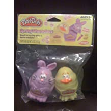 PLAYSKOOL PLAY-DOH SPRING CHARACTERS PURPLE BUNNY & YELLOW CHICK WITH PLAY-DOH AND STAMP DESIGNS