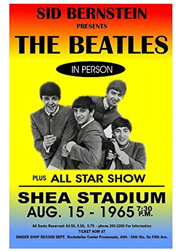 - Gatsbe Exchange Beatles Poster Shea Stadium Musician Concert Poster Rock and Roll Legends Live Forever 12 X 18