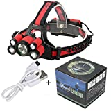 40000 LM 7X XM-L T6 LED Rechargeable Headlamp Headlight Travel Head Torch Durable