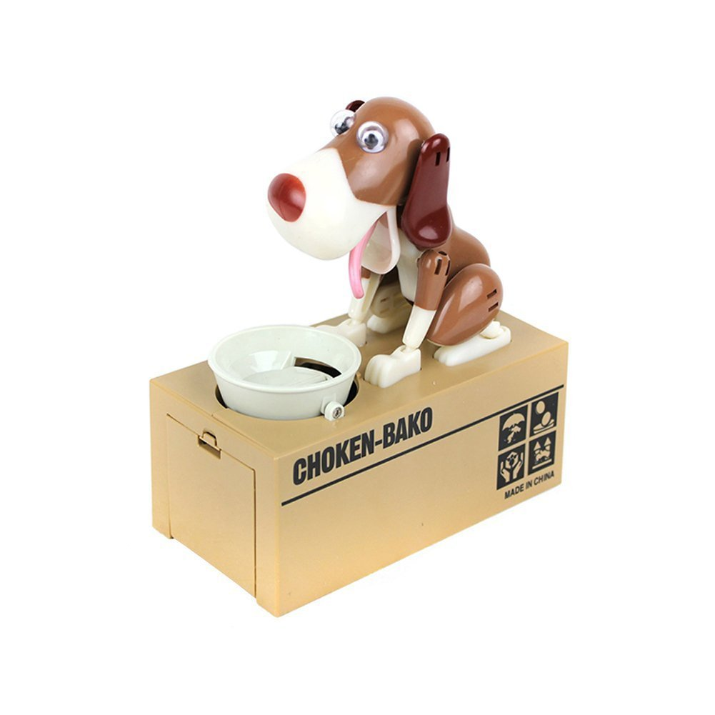 LOBZON Stealing Coin Bank Money Box Piggy Bank , Cute Puppy by LOBZON