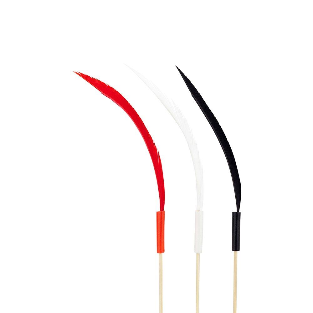 Restaurantware RWB0362 500 Count Quill Feather Skewer Box 6'' Natural