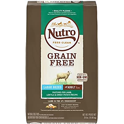 Nutro Grain Free Large Breed Adult Pasture-Fed Lamb, Lentils And Sweet Potato Dry Dog Food 24 Pounds (Discontinued By Manufacturer)