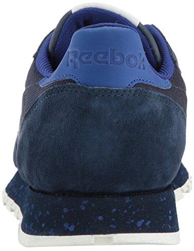 SM Leather Collegiate CL 10 Deep Fashion Men Chalk Navy Sky Reebok Indigo Sneaker Cobalt M US fyEHtwc