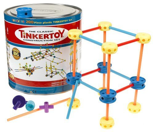 The Classic Tinkertoy Construction Set -200 Pieces