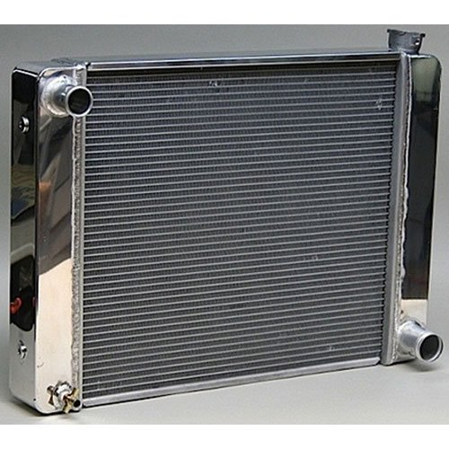 PRW 5401925 Aluminum Radiator with Polished End Tank and Top Cover for GM