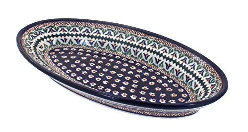 Polish Pottery Daisy Small Oval Platter
