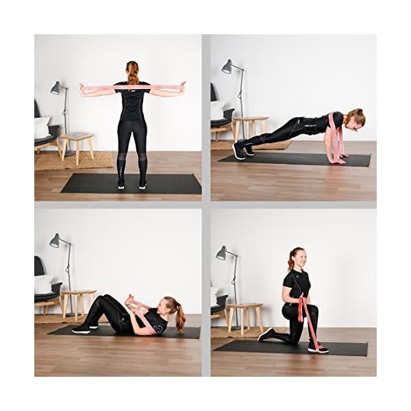 Ultrasport Nastro elastico, fitness per casa e palestra, adatto per pilates, ginnastica e stretching, lavabile in… 2 spesavip
