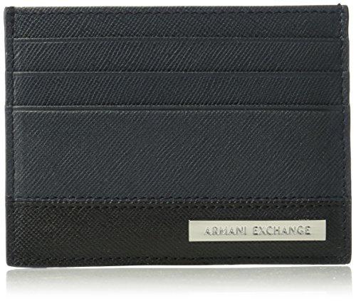 Armani Exchange Men's Bicolor Saffiano - Armani Card Credit Exchange