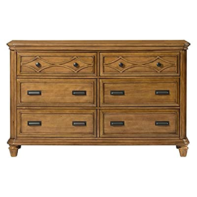 Picket House Furnishings Mysteria Bay 6 Drawer Dresser in Honey