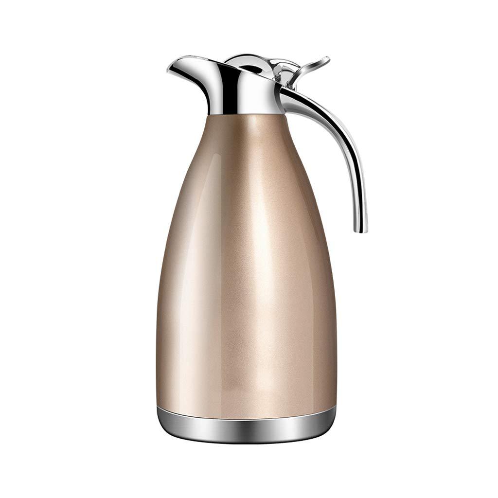 LRXG Thermoskannen, 304 Edelstahl 2L Doppelwandige Vakuumisolierte Kaffeekanne Kaffee Plunger Juice Isolation Reisebecher