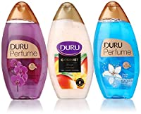 Duru 3 Piece Shower Gel Variety Pack, Mango Ice Cream/Orchid/Aqua Love