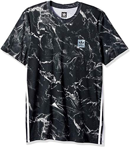 adidas Originals Mens Skateboarding Marble 3-Stripe Tee