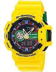 Casio G-Shock Orange Dial Resin Quartz Multifunction Mens Watch GA400A-9A