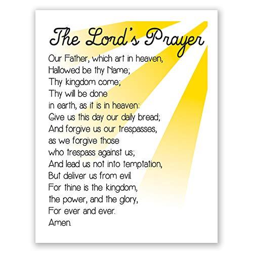8x10 Lords Prayer Wall Art // Christian Decor // Bible Verse Print // Sunday School Artwork // Scripture // For Kids - Prayer Lords Wall