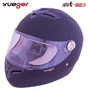 RT-824 Integralhelm Motorradhelm Kinderhelm Motorrad Integral Roller Helm rueger 53-54 Gr/ö/ße:XS Farbe:Black Franky