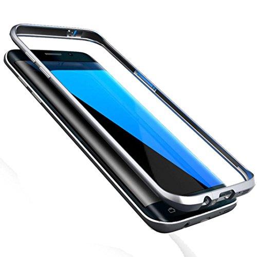 Tenworld Samsung Galaxy S7 Edge Case Bumper ! ! ! Aluminum Metal Bumper Thin Cover (Black)