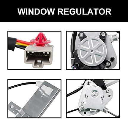 72250S5DA03 72250S5DA01 Youxmoto Front Left Driver Side Power Window Regulator With Motor for 2001-2005 Honda Civic 741-742 72250S5DA04 72250S5DA05 72250S5DA02 72250S5DA06
