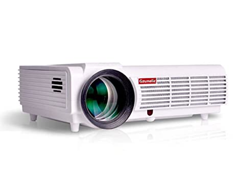Gzunelic 4200 lumens 1080p LED Video Projector Full HD homeTheater Proyector Native 1280x800 with 2 HDMI 2 USB VGA AV Multiple interfaces Support ...