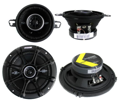 """2) Kicker 41DSC354 3.5"""" 80W + 2) 41DSC654 6.5"""" 240W 2-Way Car Coaxial Speakers"""