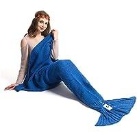 Kpblis Warm and Soft Mermaid Tail Blanket Knitted Mermaid...