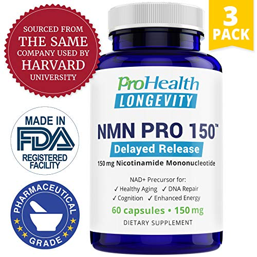ProHealth NMN Pro Delayed Release 3-Pack (150 mg, 60 Capsules Each) Nicotinamide Mononucleotide | NAD+ Precursor | Supports Anti-Aging, Longevity and Energy | Non-GMO (Best Anti Aging Supplements On The Market)