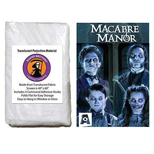 SD Card - AtmosFearFX Macabre Manor SD Card and Reaper Brothers High Resolution Window Projection Screen for Virtual Halloween Videos (Manor Halloween)