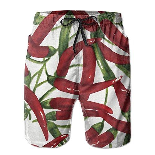 Cheap Fresh Picked Chili Peppers Hawaiian Beach Board Shorts Home Climbing free shipping
