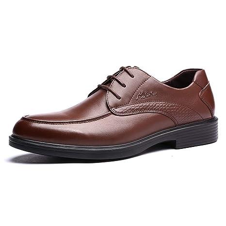 Zapatos de cuero de la boda del vestido de negocios de los hombres Zapatos de cordones