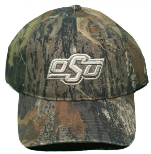Mossy Oak NEW! Oklahoma State University Cowboys Adjustable Back Hat Embroidered Camo Cap
