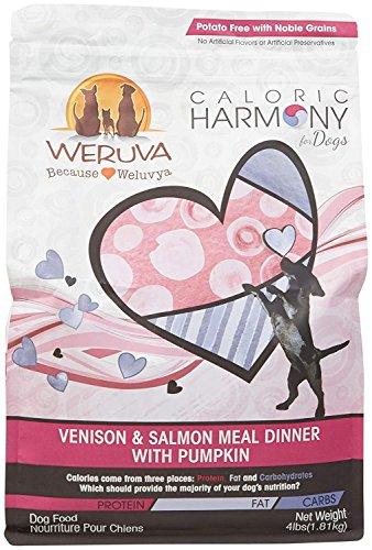 (Weruva Caloric Harmony, Venison & Salmon Meal Dinner with Pumpkin Dry Dog Food, 4lb Resealable Bag)
