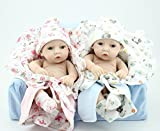 Reborn Baby Doll Hard Silicone 11in. 28cm Waterproof Toy Quilt Twins