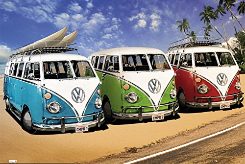 GB Eye Vw Campers Poster