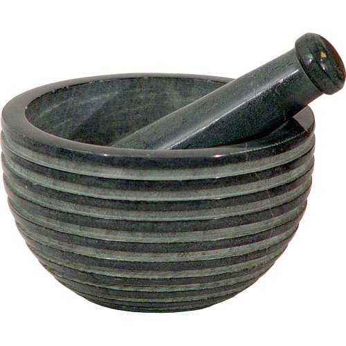The New Age Source Soapstone Mortar & Pestle Zen Grey Each ()