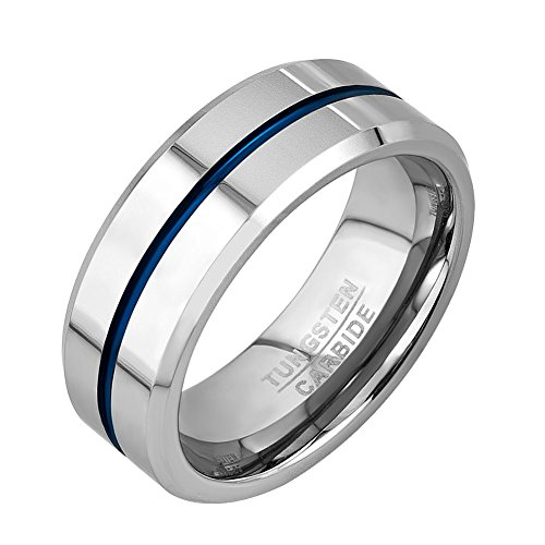 b12bdde11665c We Analyzed 443 Reviews To Find THE BEST Tungsten Ring Thin Blue Line